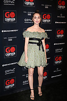LOS ANGELES - OCT 20:  Lily Collins at the GO Campaign Gala at the City Market Social House on October 20, 2018 in Los Angeles, CA