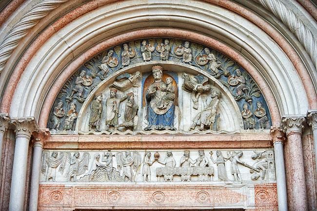 the Romanesque Baptistery of Parma, circa 1196, (Battistero di Parma), Italy