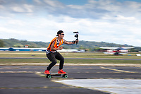 Skateboarding Videographer, Arlington Fly-In, Washington, USA.