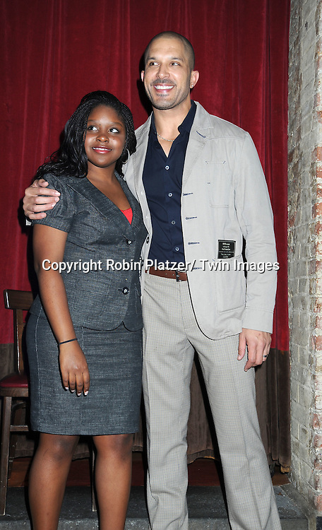 Shenell Edmonds and Terrell Tilford, actors on One Life To Live attending Sean Ringgold's  Fan Club Dinner on October 8, 2010 at HB Burger in New YOrk City.