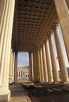 AJ4316, Philadelphia, train station, Amtrak, 30th Street Station, columns, Pennsylvania, 30th Street Station (main terminal) building in downtown Philadelphia in the state of Pennsylvania.
