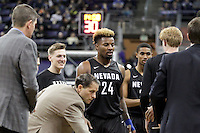 SEATTLE, WA - DECEMBER 11:  Nevada's Jordan Caroline against Washington.  Nevada defeated Washington 87-85 at Alaska Airlines Arena in Seattle, WA.