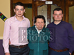 Bobby McMullen celebrating his 18th birthday in the Grove House Dunleer with his brother Stephen and grandmother Nan Torris. Photo:Colin Bell/pressphotos.ie