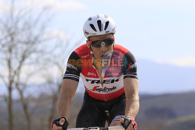 Markel Irizar (ESP) Trek-Segafredo on sector 8 Monte Santa Maria during Strade Bianche 2019 running 184km from Siena to Siena, held over the white gravel roads of Tuscany, Italy. 9th March 2019.<br /> Picture: Eoin Clarke | Cyclefile<br /> <br /> <br /> All photos usage must carry mandatory copyright credit (© Cyclefile | Eoin Clarke)