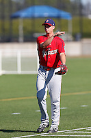 Alex Gonzalez #31 of the Spokane Indians before a game against the Hillsboro Hops at Hillsboro Ballpark on July 22, 2013 in Hillsboro Oregon. Spokane defeated Hillsboro, 11-3. (Larry Goren/Four Seam Images)