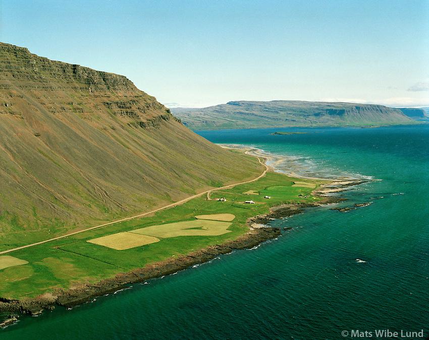 Arnórsstaðir séð til austurs, Barðastrandarhreppur /.Arnorsstadir viewing east, Bardastrandarhreppur.