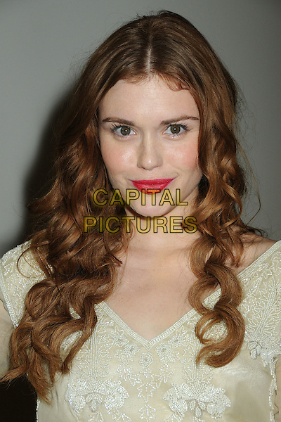 "Holland Roden.""Fashion's Night Out"" Fashion Show Hosted by Nicole Richie held at The Beverly Center, Los Angeles, California, USA..September 8th, 2011.headshot portrait beige pink lipstick .CAP/ADM/BP.©Byron Purvis/AdMedia/Capital Pictures."