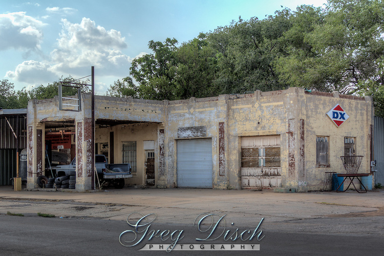 An old service station on Route 66 in Sayer Oklahoma.