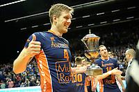 GRONINGEN - Volleybal , Lycurgus - Orion, finale playoff 5, seizoen 2018-2019, 12-5-2019,  orion viert het kampioenschap