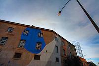 Artist Momo<br /> Title No Title<br /> Quartiere / District  Ostiense <br /> <br /> Roma 10-11-2015 Street Art a Roma. <br /> Street Art in Rome. <br /> Foto Andrea Staccioli / Insidefoto