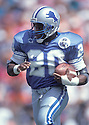 Detroit Lions Barry Sanders (20) in action during a game against the Tampa Bay Buccaneers on October 3, 1993 at Tampa Stadium  in Tampa, Florida.  The Buccaneers beat the Lions 27-10. Barry Sanders  was inducted to the Pro Football Hall of Fame in 2004.