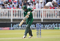 Babar Azam (Pakistan) pulls square of the wicket for four runs during Pakistan vs Bangladesh, ICC World Cup Cricket at Lord's Cricket Ground on 5th July 2019