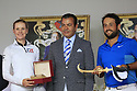 HRH Prince Moulay Rachid and winner Alexander Levy (FRA) during the final round of the Troph&eacute;e Hassan II played at Royal Golf Dar Es Salam, Rabat, Morocco<br />  22/04/2018.<br /> Picture: Golffile | Phil Inglis<br /> <br /> <br /> All photo usage must carry mandatory copyright credit (&copy; Golffile | Phil Inglis)