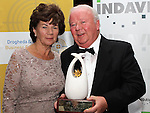 Winner of the Lifetime Achievement Award Mal Caffrey with his wife Myra at the Business Excellence Awards in Earth Night Club at the Westcourt Hotel. Photo:Colin Bell/pressphotos.ie