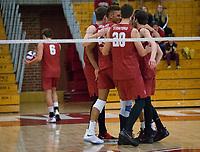 STANFORD, CA - December 30, 2017: Cole Paullin, Jaylen Jasper at Burnham Pavilion. The Stanford Cardinal defeated the Calgary Dinos 3-1.