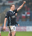 Dundee's David Clarkson at the end of the game.