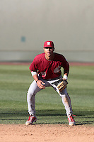 Jordan Copeland #21 of the Washington State Cougars during a game against the UCLA Bruins at Jackie Robinson Stadium on March 24, 2012 in Los Angeles,California. UCLA defeated Washington 12-3.(Larry Goren/Four Seam Images)