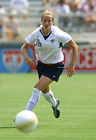 Megan Rapinoe runs for a pass. The USA defeated Canada 2-0 at SAS Stadium in Cary, NC on Sunday, July 30, 2006.
