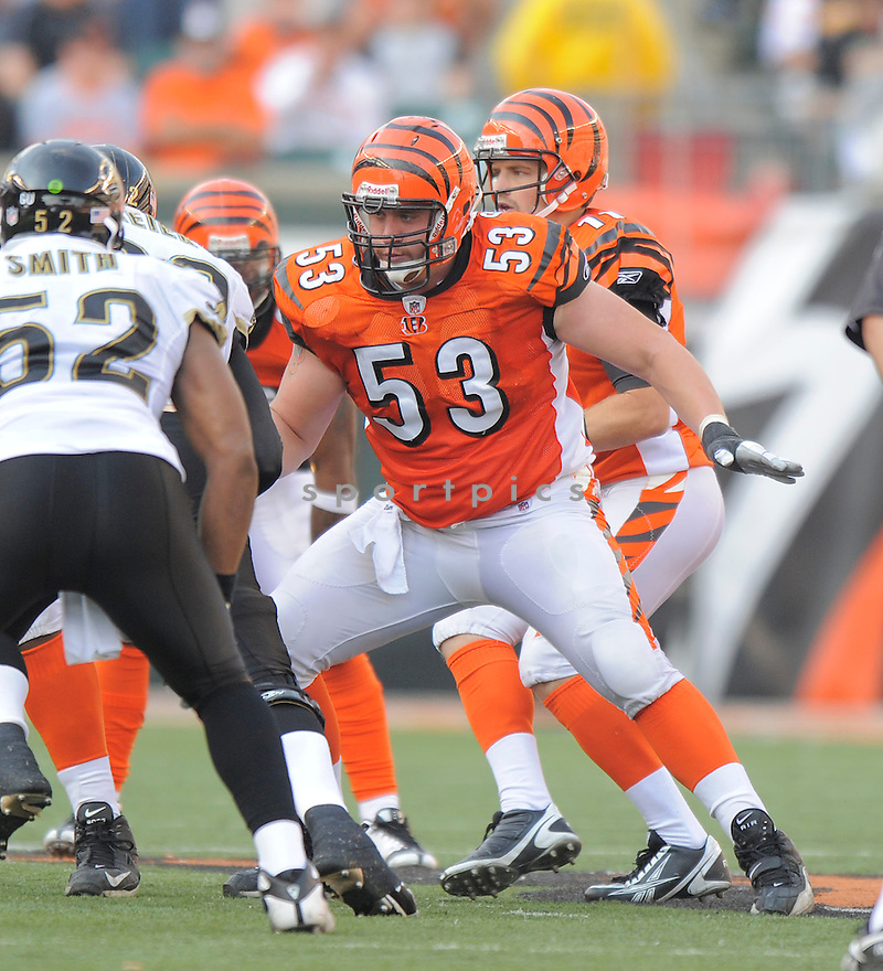 ERIC GHIACIUC, of the Cincinnati Bengals, in action against the Jacksonville Jaguars during the Bengals game in Cincinnati, OH on Novmeber 12, 2008. ..Bengals win 21-19