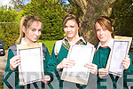 Arlenne Teahan, Shauna Callaghan and Katie Concannon Killorglin Community College celebrate receiving their Junior Cert results on Wednesday