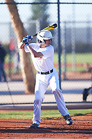 Noah Frasca (49), from Saint James, New York, while playing for the Nationals during the Under Armour Baseball Factory Recruiting Classic at Red Mountain Baseball Complex on December 29, 2017 in Mesa, Arizona. (Zachary Lucy/Four Seam Images)