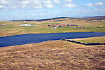 Loch of Kirkidale and village, Mainland, Shetland Islands, Scotland