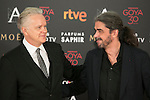 Actor Tim Robbins (L) and Fernando Leon de Aranoa attend 30th Goya Awards red carpet in Madrid, Spain. February 06, 2016. (ALTERPHOTOS/Victor Blanco)