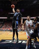Duke center Jahlil Okafor (15) during an ACC basketball game Jan. 31, 2015 in Charlottesville, VA. Duke won 69-63.