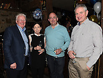Adrian and Barbara Burke, Collie Condon and  Bonny Byrne at Eddie Thornton's 75th birthday in The Cottage Inn Laytown. Photo:Colin Bell/pressphotos.ie