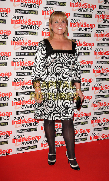 WENDI PETERS.Inside Soap Awards, Gilgamesh, London, England, September 24th 2007..full length black and white print dress tights.CAP/ROS.©Steve Ross/Capital Pictures