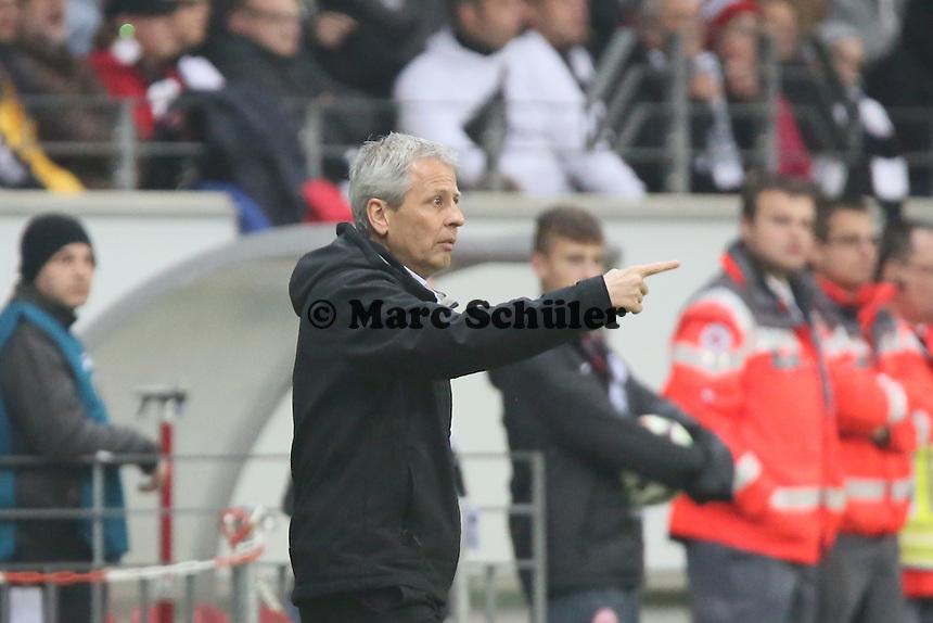 Trainer Luien Favre (Gladbach) - Eintracht Frankfurt vs. Borussia Mönchengladbach, DFB-Pokal 2. Runde, Commerzbank Arena