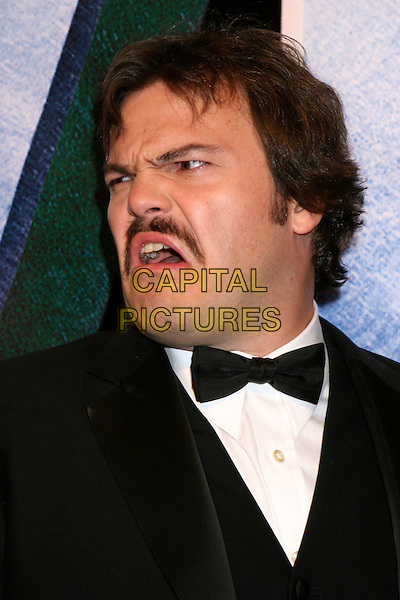 "JACK BLACK.Universal Pictures' ""King Kong"" New York City Premiere - Arrivals at Loews E-Walk & AMC Empire Cinemas, New York City..December 5th, 2005 .Ref: IW.headshot portrait bow tie mustache facial hair funny face.www.capitalpictures.com.sales@capitalpictures.com.©Capital Pictures"