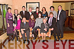 ANNIVERSARY; Paddy and Maureen Fitzmaurice, Gortdromosillihy, Moyvane, celebrated their 60th wedding anniversary with family and friends at Kirby's Lanterns Hotel, Tarbert, on Saturday night. They are photographed here with their family.