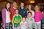 FAMILY QUIZ: Having great family fun at the John Mitchels GAA club quiz night on Thursday l-r: Jeanne and Denis Fitzgerald, Ciara Kilgallen, Joseph Fitzgerald, Rachael and Sarah Kilgallen, Eleanor Sugrue and Marta Kilgallen all from Colghers and Ballyard.