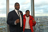 Daniel Dubois and Caroline Dubois during a Press Conference at the BT Tower on 11th November 2019