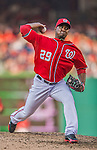 8 June 2013: Washington Nationals pitcher Rafael Soriano on the mound against the Minnesota Twins at Nationals Park in Washington, DC. The Twins edged out the Nationals 4-3 in 11 innings. Mandatory Credit: Ed Wolfstein Photo *** RAW (NEF) Image File Available ***