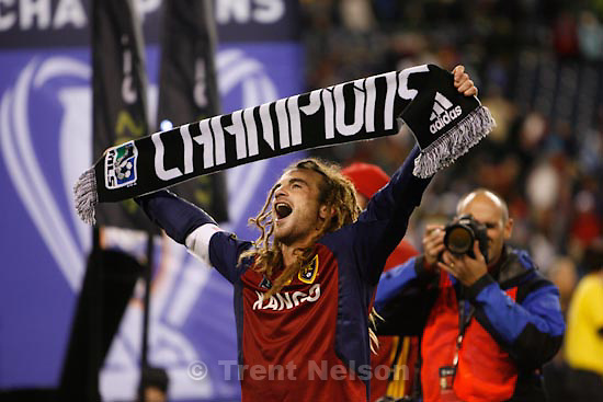 Trent Nelson  |  The Salt Lake Tribune.Real Salt Lake vs. LA Galaxy, MLS Cup Sunday, November 22 2009 at Qwest Field in Seattle. kyle beckerman