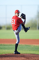 Shane Stewart (51), from Foster City, California, while playing for the Cardinals during the Under Armour Baseball Factory Recruiting Classic at Red Mountain Baseball Complex on December 28, 2017 in Mesa, Arizona. (Zachary Lucy/Four Seam Images)