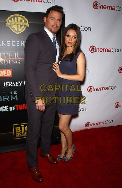 27 March 2014 - Las Vegas, Nevada - Channing Tatum, Mila Kunis.  2014 CinemaCon - Warner Bros. Pictures Event Red Carpet at Caesars Palace. <br /> CAP/ADM/MJT<br /> &copy; MJT/AdMedia/Capital Pictures