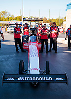 Oct 14, 2019; Concord, NC, USA; Crew members for NHRA top fuel driver Doug Kalitta during the Carolina Nationals at zMax Dragway. Mandatory Credit: Mark J. Rebilas-USA TODAY Sports