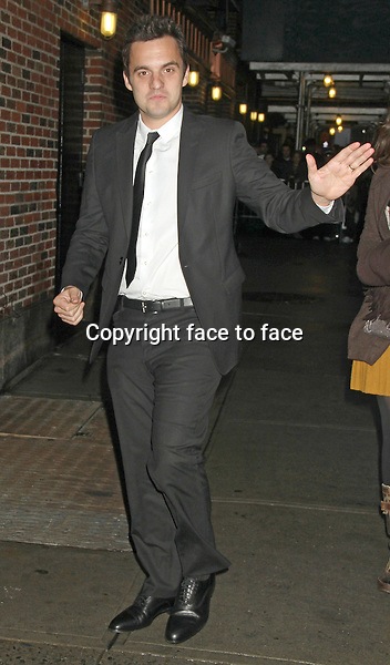 Jake Johnson at The Ed Sullivan Theater for an appearance on Late Show with David Letterman. New York, 10.12.2012...Credit: MediaPunch/face to face..- Germany, Austria, Switzerland, Eastern Europe, Australia, UK, USA, Taiwan, Singapore, China, Malaysia and Thailand rights only -