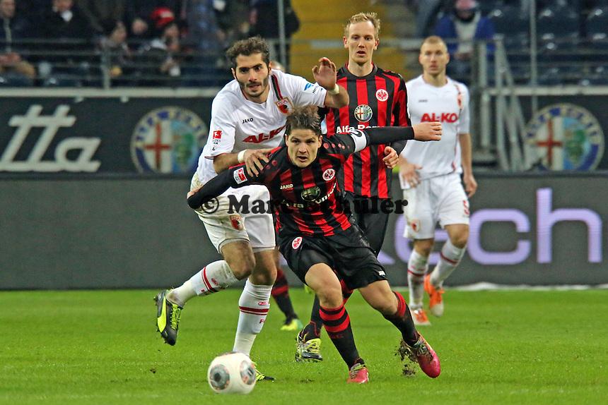 Pirmin Schwegler (Eintracht) gegen Halil Altintop (Augsburg) - Eintracht Frankfurt vs. FC Augsburg