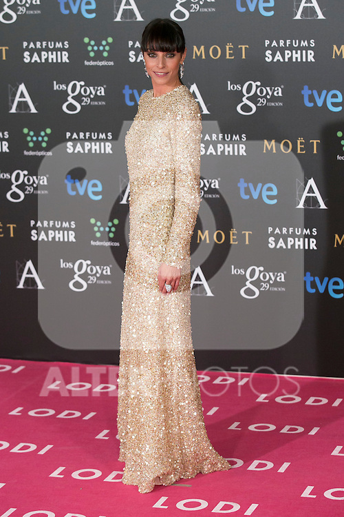 Ingrid Rubio attend the 2015 Goya Awards at Auditorium Hotel, Madrid,  Spain. February 07, 2015.(ALTERPHOTOS/)Carlos Dafonte)