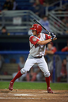 Williamsport Crosscutters outfielder Zachary Coppola (11) at bat during a game against the Batavia Muckdogs on August 28, 2015 at Dwyer Stadium in Batavia, New York.  Batavia defeated Williamsport 6-0.  (Mike Janes/Four Seam Images)