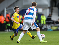 Leeds United's Jack Clarke competing with Queens Park Rangers'  Luke Freeman<br /> <br /> Photographer Andrew Kearns/CameraSport<br /> <br /> The Emirates FA Cup Third Round - Queens Park Rangers v Leeds United - Sunday 6th January 2019 - Loftus Road - London<br />  <br /> World Copyright &copy; 2019 CameraSport. All rights reserved. 43 Linden Ave. Countesthorpe. Leicester. England. LE8 5PG - Tel: +44 (0) 116 277 4147 - admin@camerasport.com - www.camerasport.com