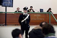 Roma, 19 Novembre 2015<br /> La Presidente Rosanna Ianniello.<br /> Aula bunker di Rebibbia<br /> Quarta udienza del processo Mafia Capitale,