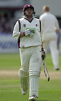 Photo Peter Spurrier.31/08/2002.Cheltenham & Gloucester Trophy Final - Lords.Somerset C.C vs YorkshireC.C..Somerset batting;  Keith Dutch