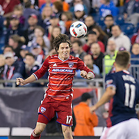 Foxborough, Massachusetts - May 21, 2016: In a Major League Soccer (MLS) match, FC Dallas (red) defeated New England Revolution (blue/white), 4-2 (halftime), at Gillette Stadium.