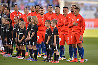 Santa Clara, CA - Monday June 06, 2016: Chile during a Copa America Centenario Group D match between Argentina (ARG) and Chile (CHI) at Levi's Stadium.