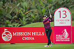 Zhang Yuyang of China tees off at the 13th hole during Round 2 of the World Ladies Championship 2016 on 11 March 2016 at Mission Hills Olazabal Golf Course in Dongguan, China. Photo by Victor Fraile / Power Sport Images